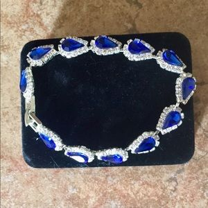 Foxy Lady Like New Sapphire Crystal Gem Bracelet